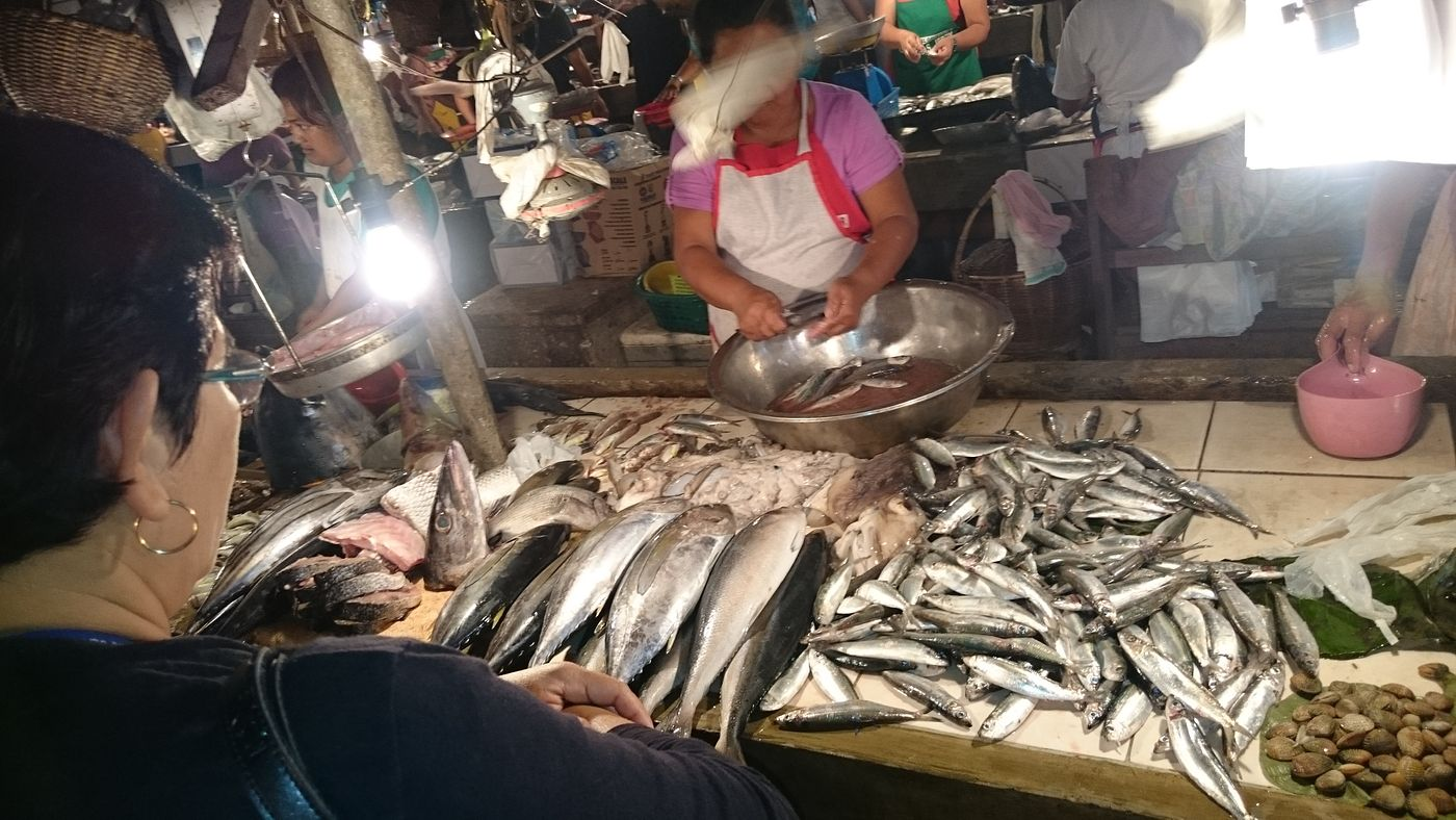 Fresh sea food at the Baler public market