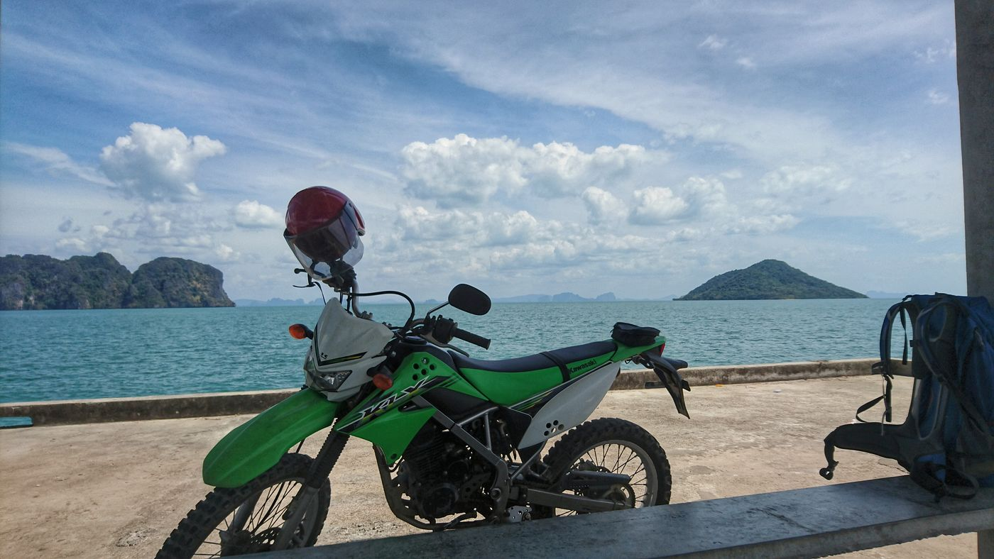 Bike on the pier, south east of Koh Lanta Noi