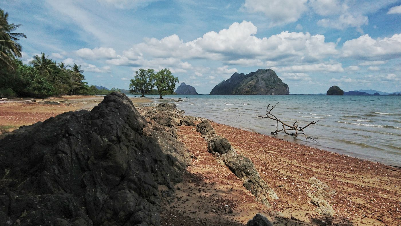 Small beach between Mangroves at the east side of Koh Lanta Noi