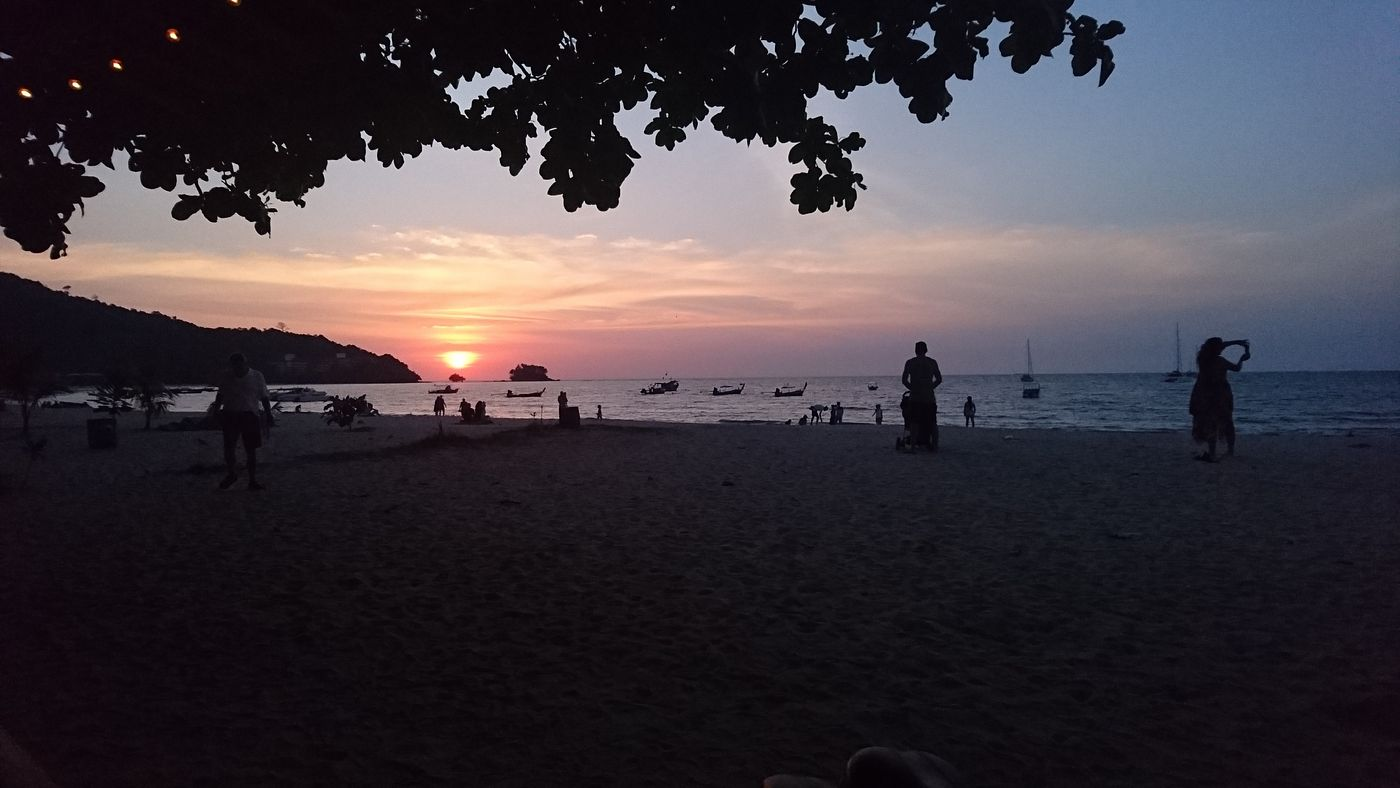Sunset at Nai Yang Beach, Phuket""