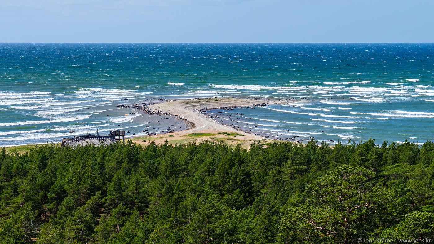 Beach on the western tip of Hiiumaa, seen from Ristna Lighthouse